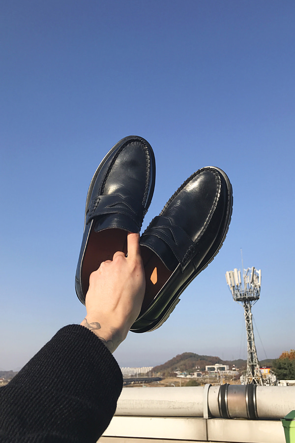 No.4873 handmade cowhide loafer