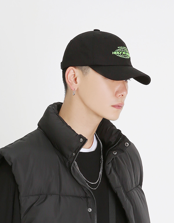 No.0041 HIC made EARTH lime logo BALL CAP