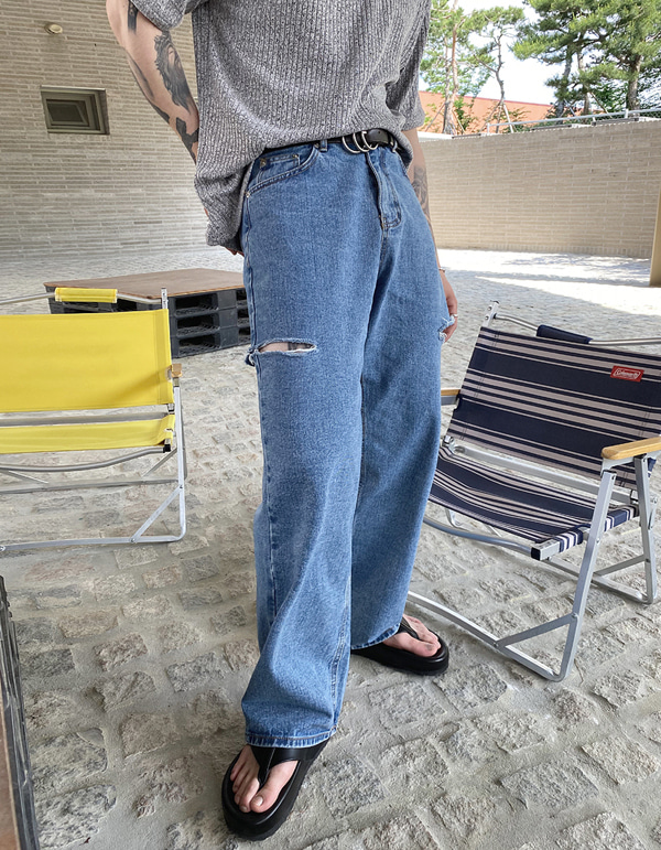 No.8080 double cutting JEANS