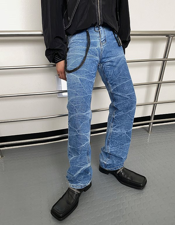 No.8233 crack trendy denim PT