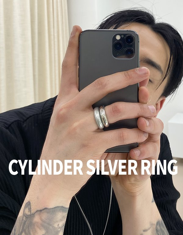 No.8795 cylinder silver RING
